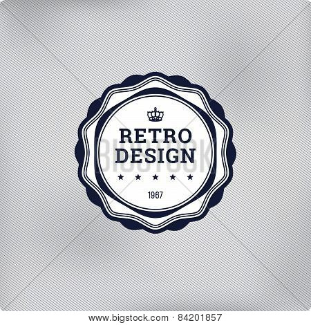 Retro Logo Element