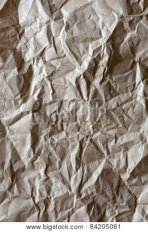 Crumpled Packing Paper Background