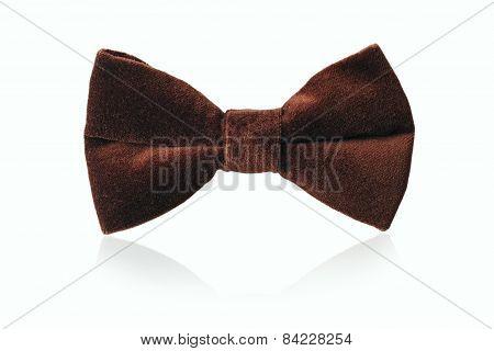 Mans Brown Velvet Bow Tie