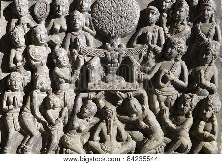 Ancient Thai Bas Relief