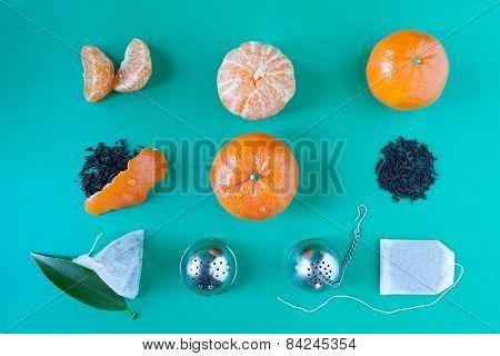 Tangerines Tea Deconstructed