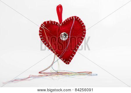 Heart shaped pincushion.