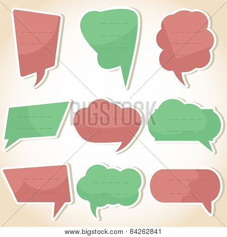 Set Of Speech Bubbles And Dialog Balloons