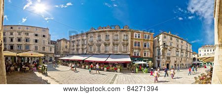 Split Historic Square Panoramic View