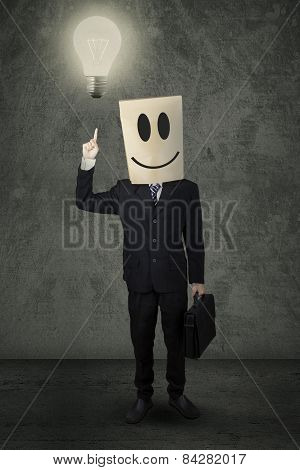 Anonymous Person With Lightbulb
