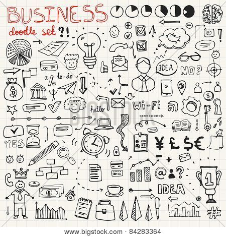 Business Doodle Element Set