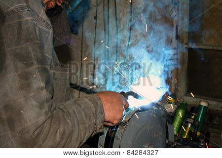 Welding Of Metal By Argon