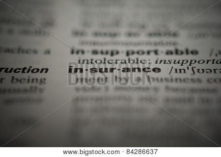 Definition of the word insurance