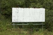 blank old white billboard great for use in a sign with your own copy poster