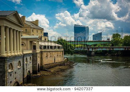 The Fairmount Water Works And Buildings Along The Schuylkill River In Philadelphia, Pennsylvania.