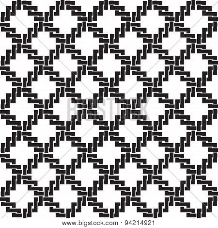 Seamless pattern of crosses in celtic knotting style