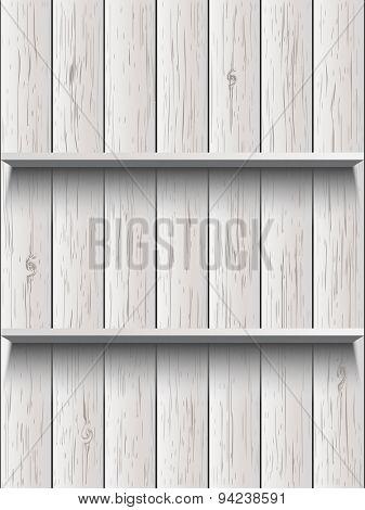 Blank wooden shelf
