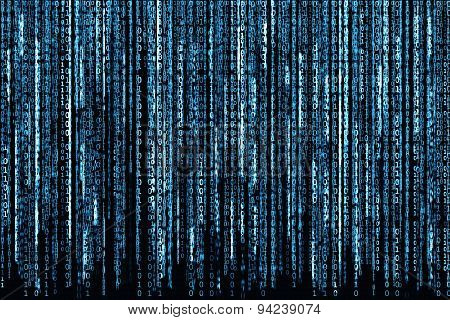 Blue Binary Code