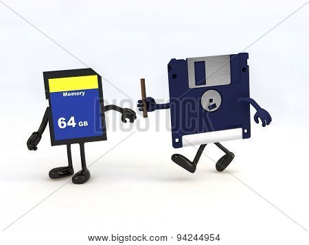 Relay Between Floppy Disk And Memory Stick