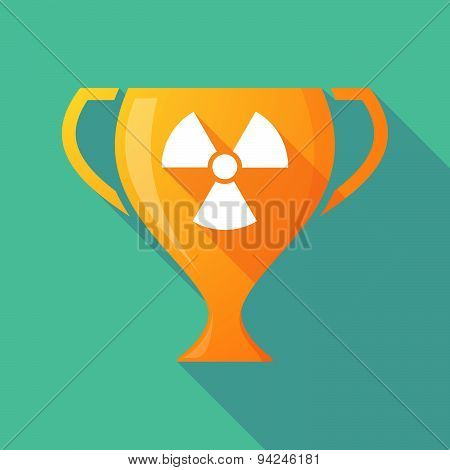 Long Shadow Trophy Icon With A Radio Activity Sign