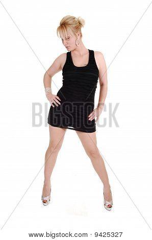 Girl In Black Dress.