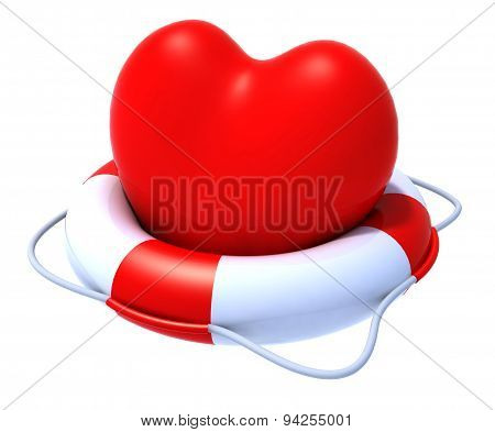 Heart In A Lifesaver