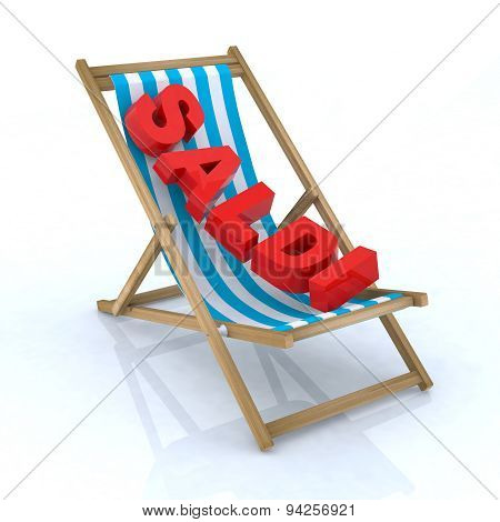 Beach Chair With Saldi Written