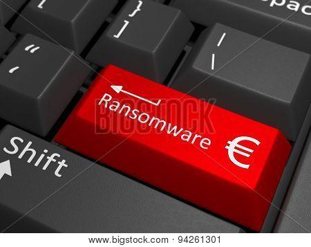 Ransomware Euro Key On Keyboard