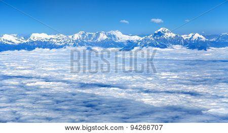 Aerial View Of Himalayas Range - Dhaulagiri Himal