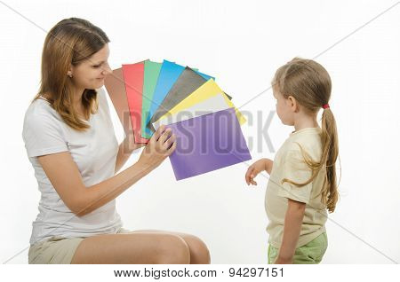 Girl Finds It Difficult To Pick The Color
