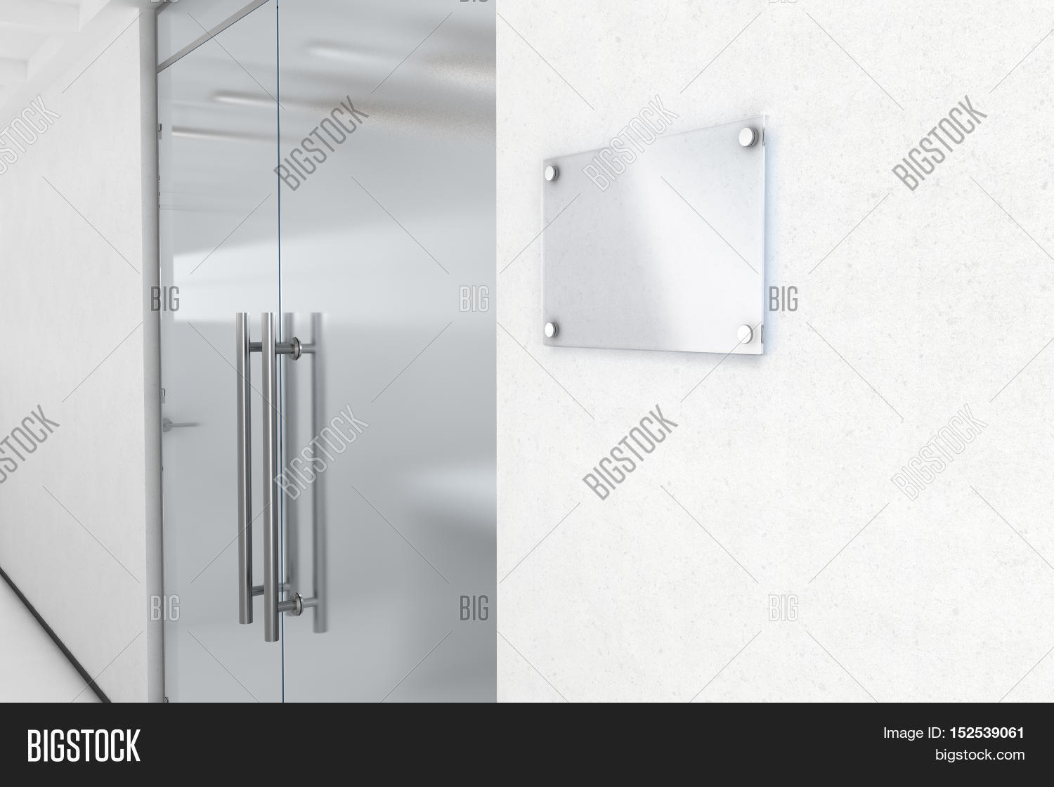 Blank Glass Name Plate Image & Photo (Free Trial) | Bigstock