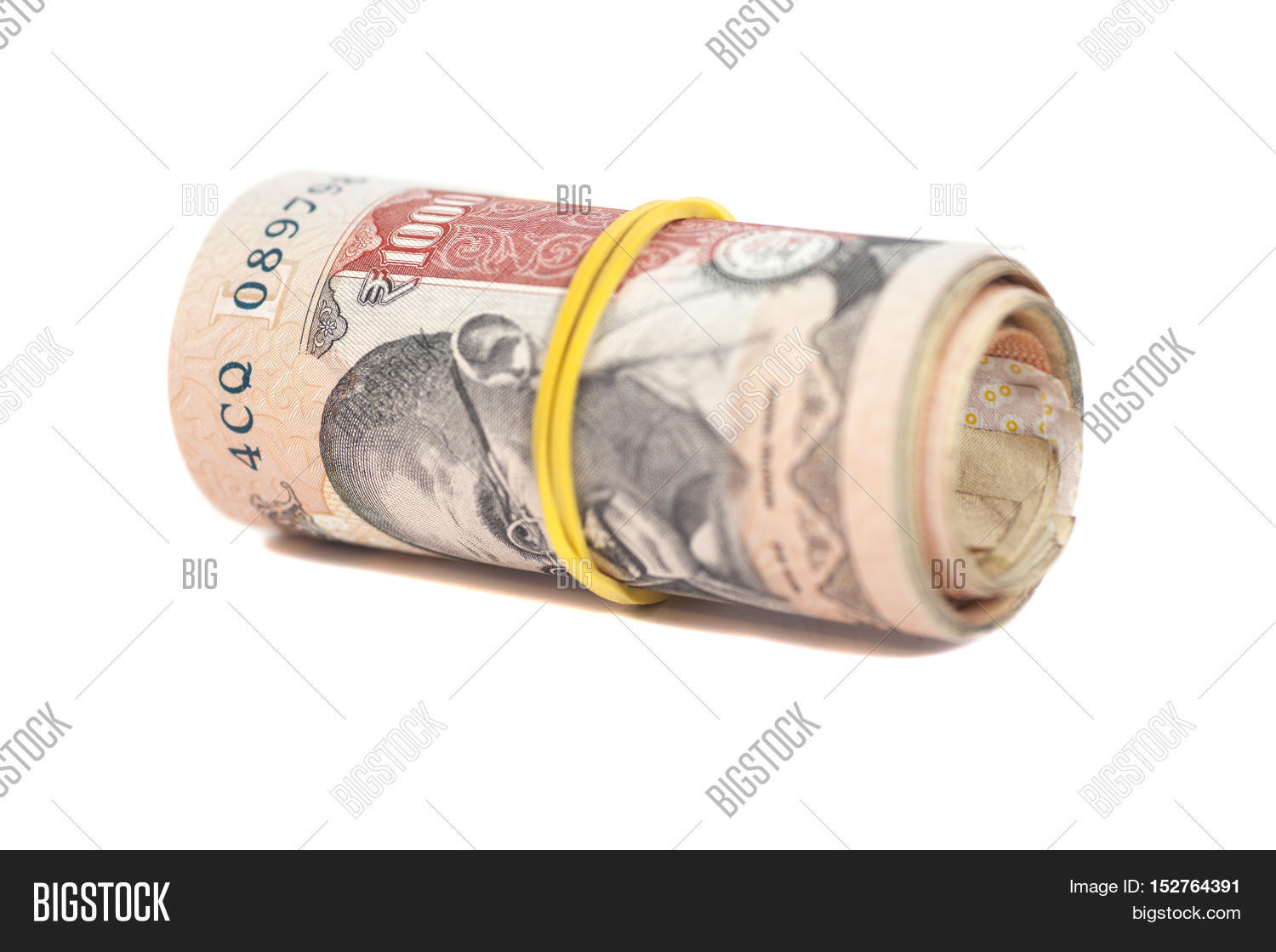 Roll Indian Rupees Image & Photo (Free Trial) | Bigstock
