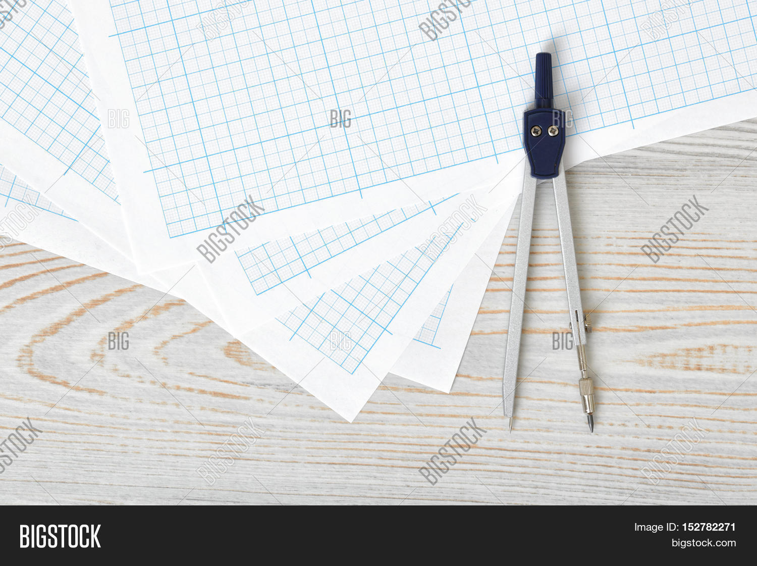 compass on graph paper image photo free trial bigstock