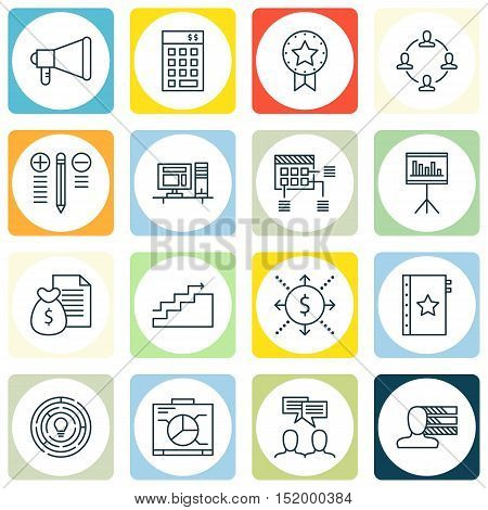 Set Of 16 Universal Editable Icons For  Topics. Includes Icons Such As Investment, Decision Making,
