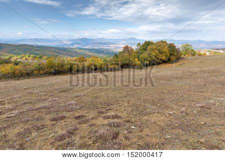 Panoramic view of Cherna Gora mountain, Pernik Region, Bulgaria