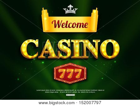 Online casino background for poster, flyer, billboard, web sites, gambling club. Casino jackpot triple seven lucky number.