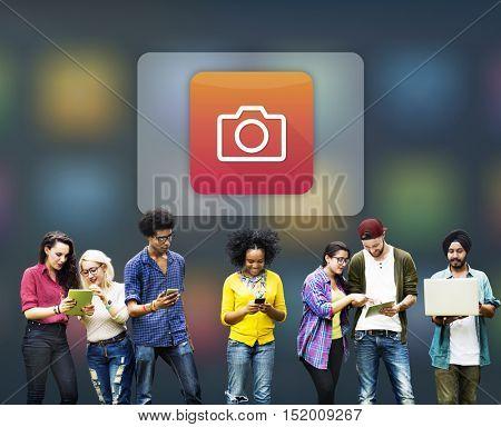 Camera Icon Digital Software Concept