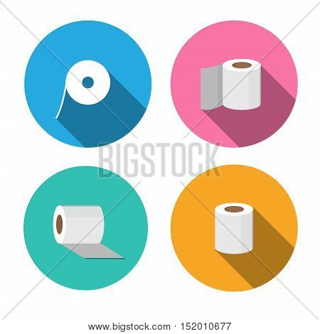 Tissue paper icons in flat style vector design