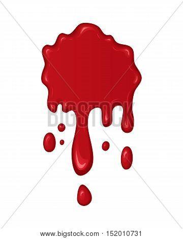 Vector Blood Splash Or Drop.