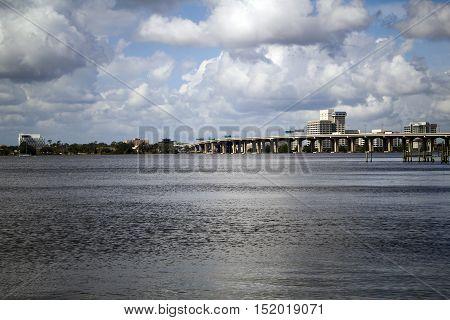 Riverside near downtown Jacksonville Florida along the St Johns River