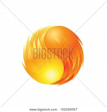 Fireball element icon on a white background. Vector illustration