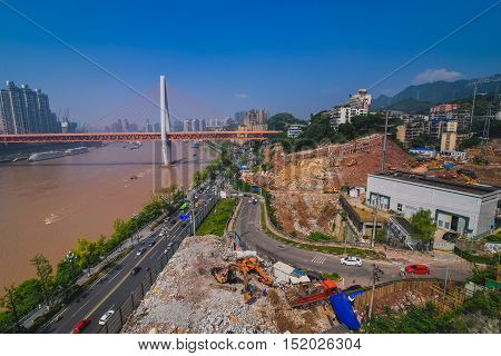 cityscape of city Chongqing, the southwest of China