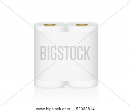 White Tissue Paper includes double roll in pack blank label and no text for mock up packaging