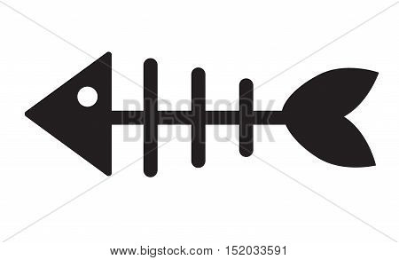 Fishbone trendy icon. Fishbone Flat icon on white background.