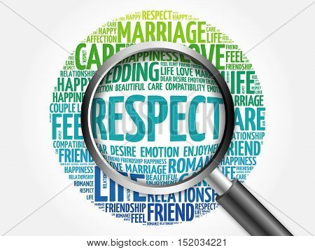 Respect Word Cloud With Magnifying Glass