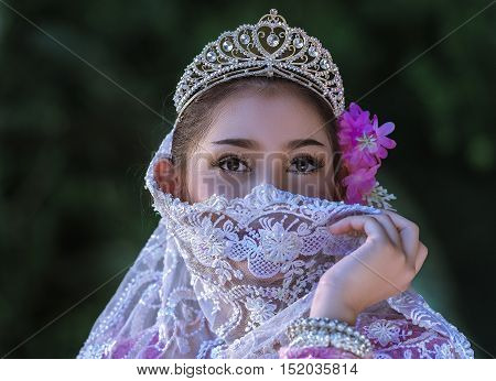 beautiful muslim girl in Thailand, Muslim woman.