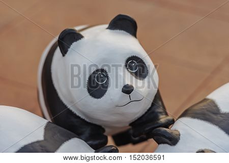 Pandas are made from recycled materials .