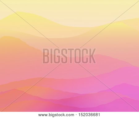 High mountains at sunset. Vector illustration background
