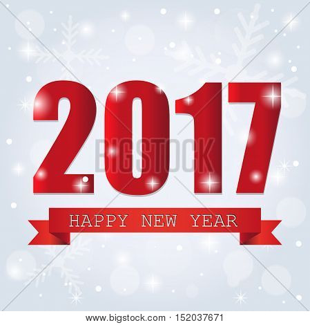 2017 Happy New Year Background for your Flyers and Greetings Card. Ideal to use for parties invitation Dinner invitation Christmas Meeting events . Merry christmas and happy new year. Celebration.