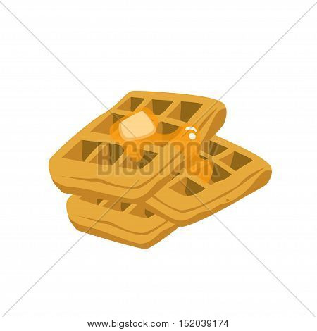 Tasty waffle cookies on a white background. Vector illustration