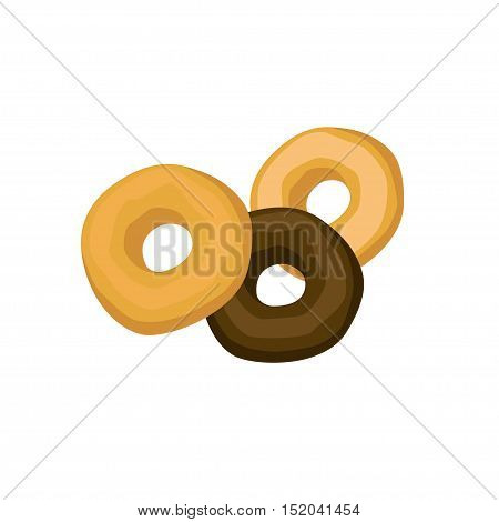 Fragrant sweet donuts on a white background. Vector illustration