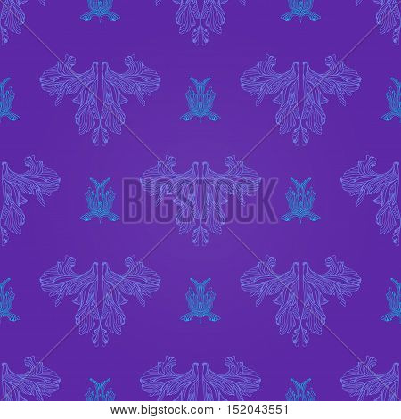 Elegant Abstract Doodle Seamless Pattern