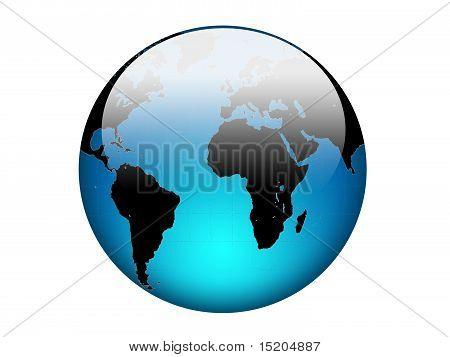 Glossy Blue Earth