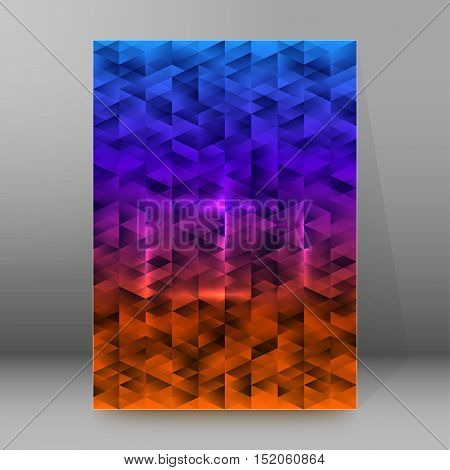 Abstract background advertising brochure design elements. Blurry light glowing graphic form for elegant flyer. Vector illustration EPS 10 for booklet layout wellness leaflet newsletters