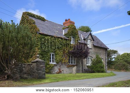 Welsh, stone cottage, Pembrokeshire, Wales, Great britain
